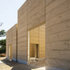 The rammed earth walls are quick to construct