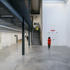The polished concrete ground floor