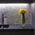 kitchen counter micro-mosaic splashback
