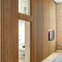 Fin door ajar revealing bedrooms beyond