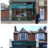 Diamonds Clippers before & after photos - the original Victorian shopfront proportions are reinstated and
