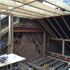 New dormer and roof structural framing - note support to disused chimney
