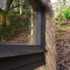 Window detail using locally sourced larch, charred for protection