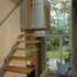 Cantilevered stair orientated towards the garden