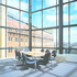 Meeting rooms take dvantage of views over the city