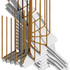 Render of stair column