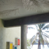 During casting ceilings are imprinted with palm fronds