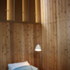 The Bedroom is lined with cedar wall panels